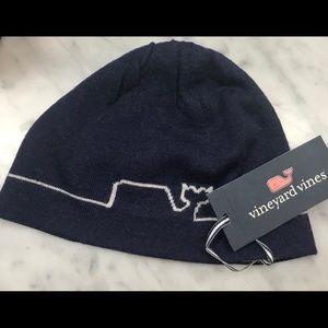 Vineyard Vines Boys Whaleline Merino Wool Hat